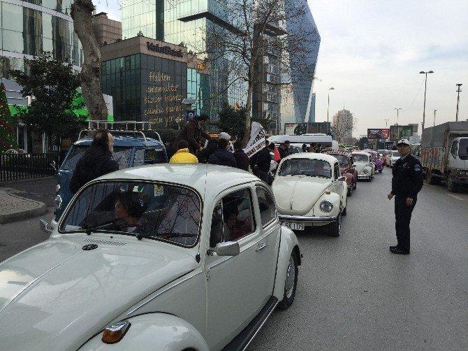 'Vosvos'larla Trafik Sigortası Protestosu