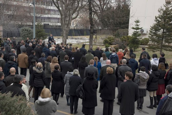ABD Büyükelçiliği'nde güvenlik görevlisi Mustafa Akarsu'yu anma töreni