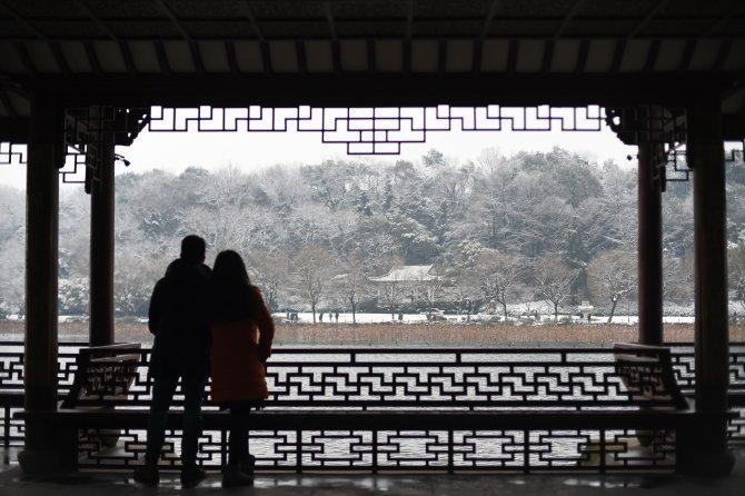 """""""Çin'in yerdeki cenneti Suzhou ve Hangzhou""""ya kar yağdı"""