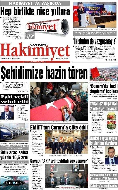 Çorum Hakimiyet Gazetesi 26. Yılını Okuyucularıyla Kutladı