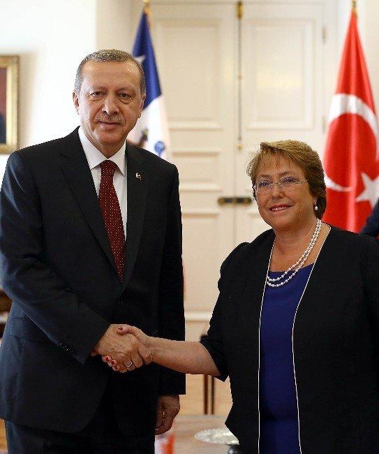 Cumhurbaşkanı Erdoğan Şili Devlet Başkanı Bachelet'le Görüştü