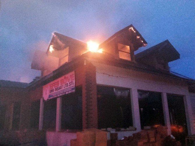 Didim'de Yangın İş Yerinde Büyük Hasara Neden Oldu