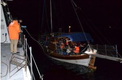 Ege'yi geçmeye çalışan göçmenleri Sahil Güvenlik kurtardı