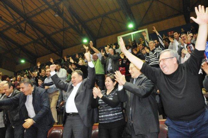 Hatay Büyükşehir Belediyespor'da Galatasaray galibiyetinin sevinci sürüyor
