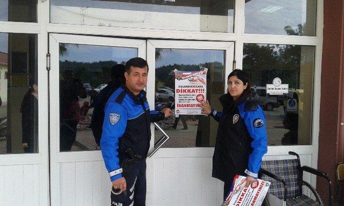 Toplum Destekli Polis'ten Vatandaşa Broşür Ve Afişli Dolandırıcılık Uyarısı