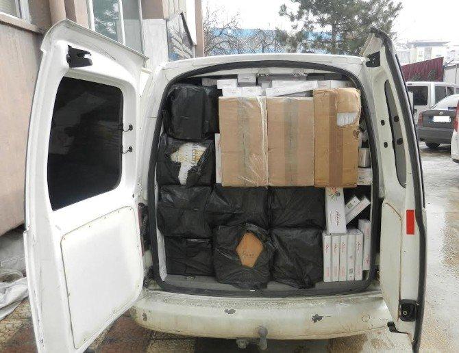 Malatya'da 47 Bin Paket Kaçak Sigara Ele Geçirildi