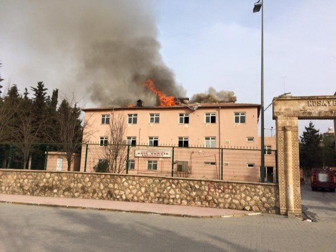 Nusaybin eski Devlet Hastanesinde 6. yangın