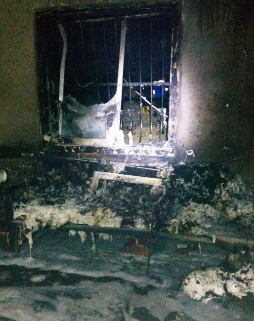 Sobadan Çıkan Ev Yangınında İki Kişi Yaralandı