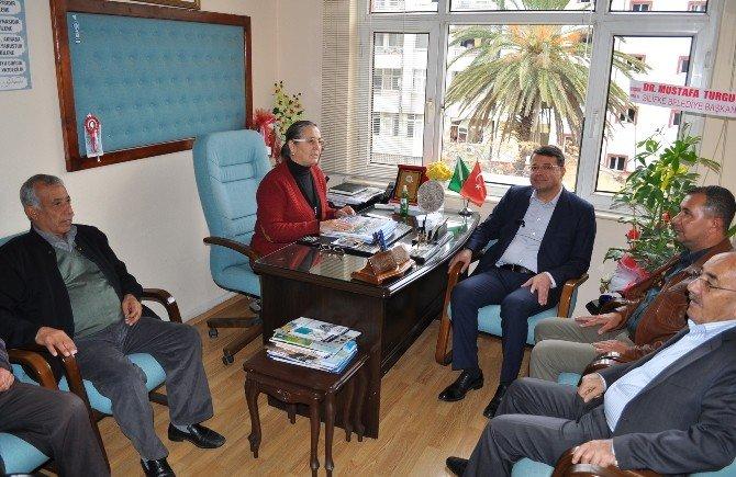 Silifke Belediye Başkanı Mustafa Turgut Ziraat Odası'nı Ziyaret Etti