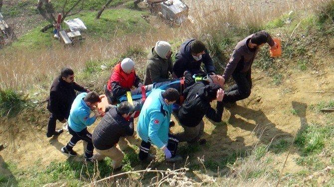 Toprak Zemine Çakılan Yamaç Paraşütçüsü Ölümden Döndü