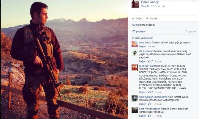 Şehit polisten 'Yeri gelecek şehit olacağız' paylaşımı