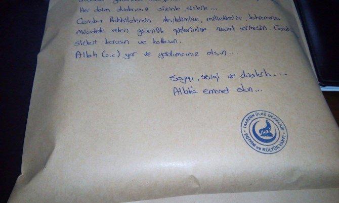 Ülkü Ocakları'ndan terörle mücadele eden asker ve polislere moral mektubu