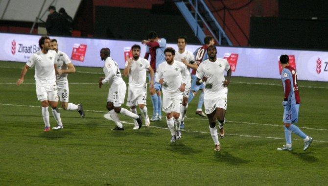 Trabzonspor: 0 - Akhisar Belediyespor: 1 (İlk yarı)
