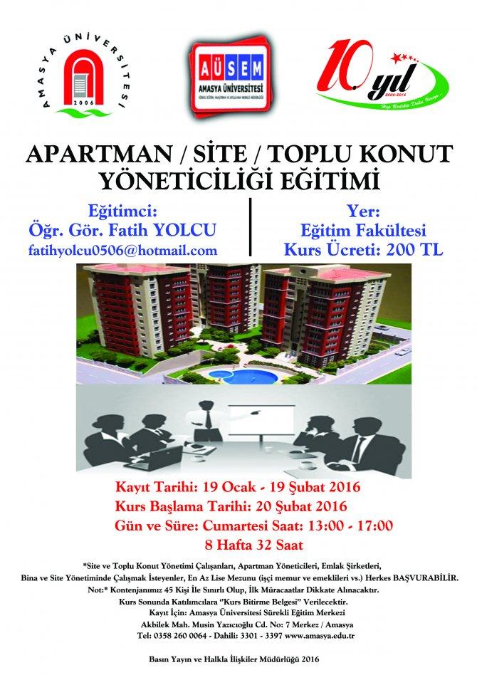 Amasya Üniversitesi, vatandaşlar için mesleki eğitim kursları başlattı