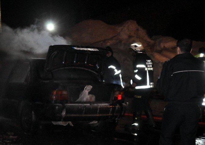 Bitlis'te Seyir Halindeki Araç Yandı