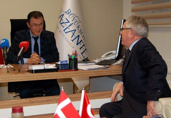 Danimarka Büyükelçisi Medsen, Gaziantep'te