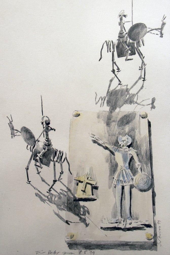 Don Kişot için Çankaya'da sergi açıldı