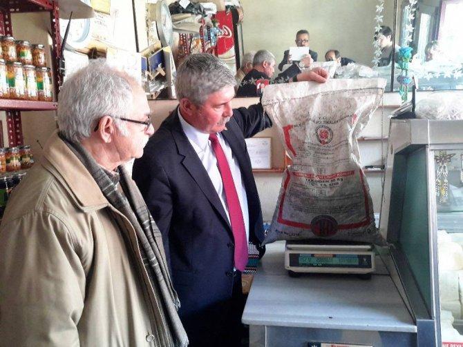 CHP Milletvekili Havutça'nın tarttığı kömür torbaları 10 kg. eksik çıktı