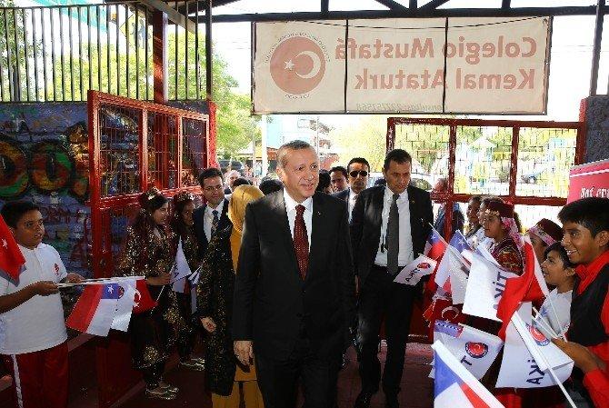 Cumhurbaşkanı Erdoğan'dan Şili'deki Mustafa Kemal Atatürk İlkokulu'na Ziyaret