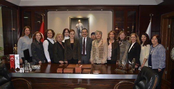 CHP Kadın Kollarından Başkan Ataç'a Ziyaret