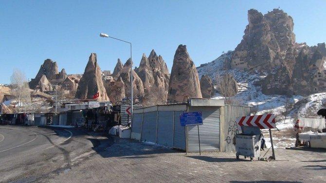 Kapadokya'da yerli turist zamanı