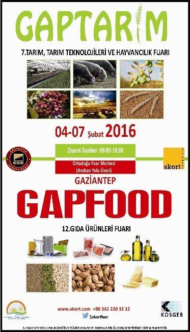 Gaptarım Ve Gapfood Fuarını Bakan Çelik Açacak