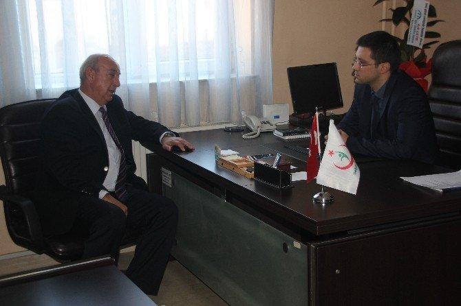 Başkan Çayır'dan Başhekim Erik'e Ziyaret