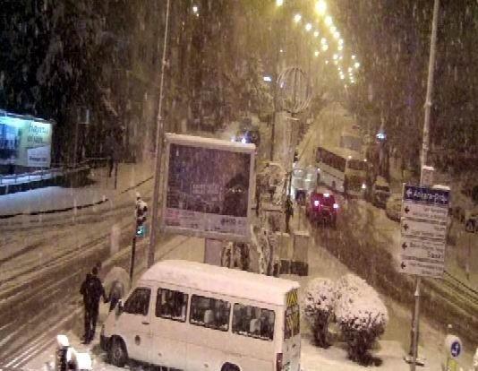 Samsun'da Buzlu Yollarda Yaşanan Kazalar MOBESE'de