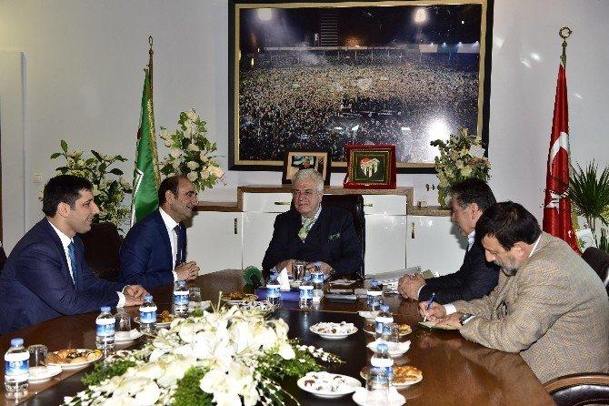 Başkan Edebali'den Bursaspor Yönetimine Ziyaret