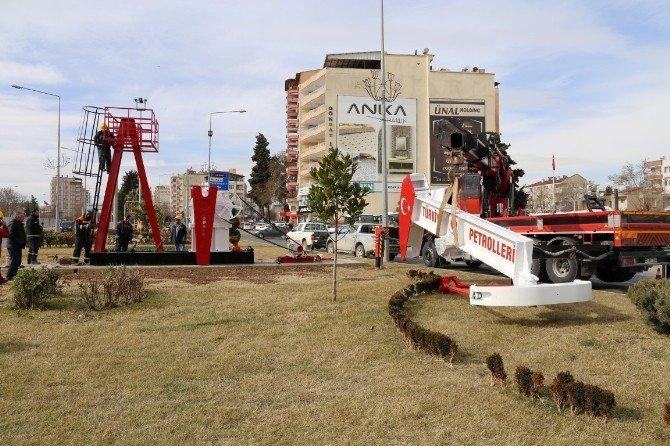 DSİ Kavşağına Petrol Pompası Yerleştirildi