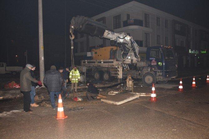 Düzce Belediyesi İçme Suyu Ana Hattına Müdahale Edildi