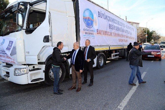 Büyükçekmece'den Bayır Bucak Türkmenleri'ne Yardım Eli