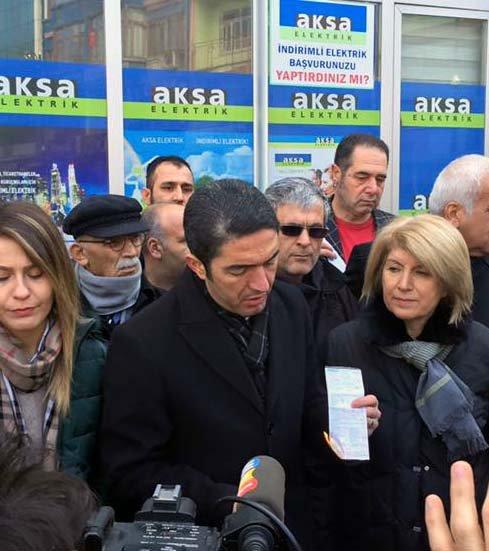 CHP Malatya İl Başkanlığı, ek ücret yansıtılan faturayı yaktı