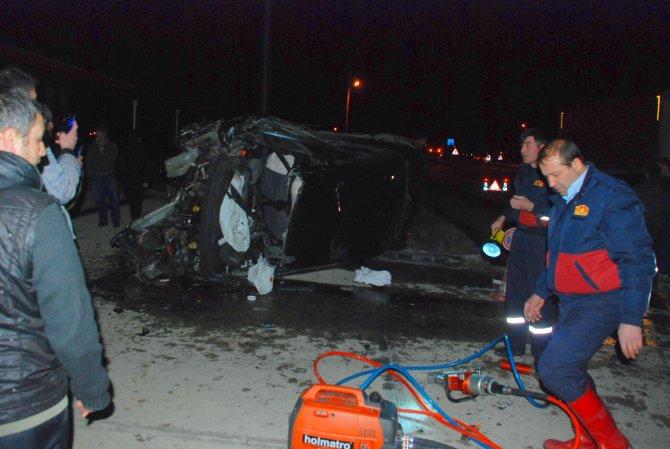 Çorum'da kaza: 2 ölü, 2 yaralı