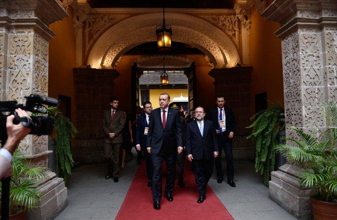Cumhurbaşkanı Erdoğan, Peru'da dışişleri sarayını ziyaret etti
