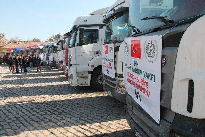 Elazığ'dan Suriye'ye 15 Tır UN Yardımı