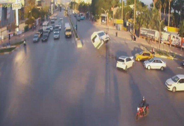 Mersin'deki Trafik Kazaları MOBESE'de