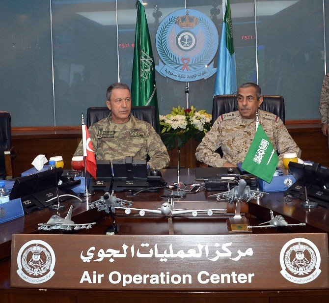 Genelkurmay Başkanı Orgeneral Akar Suudi Arabistan'ı Ziyaret Etti