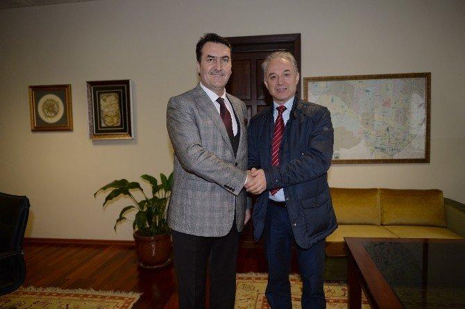 Bal-göç Başkanı Yüksel'den Başkan Dündar'a Ziyaret