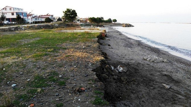 Karadeniz'in Hırçın Dalgaları Kumsallara Zarar Veriyor