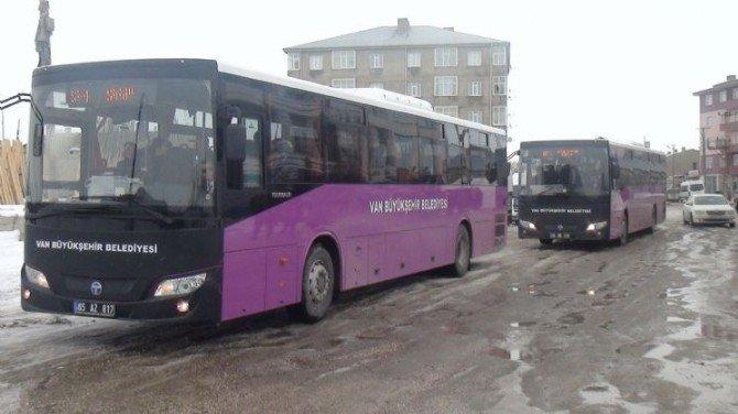 Özalp Ve Saray'da Otobüs Seferleri Başladı
