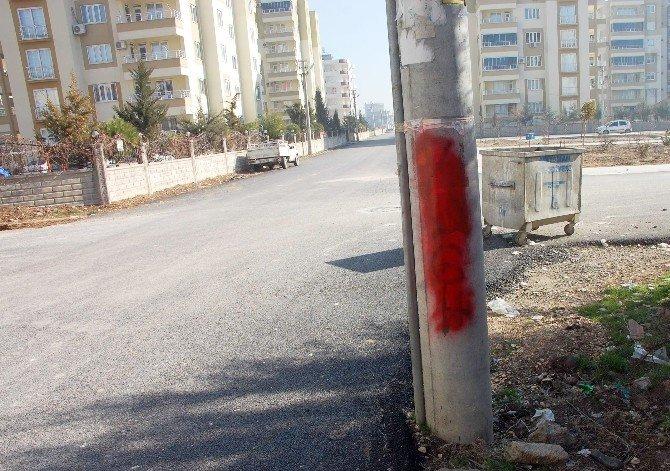 Elektrik Direklerine 'PKK, Hpg' Yazdılar