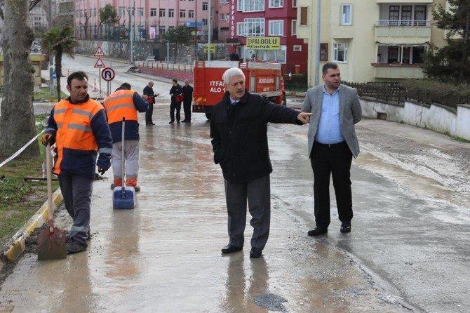 Akçakoca Belediyesi Yaz Kış Çalışıyor