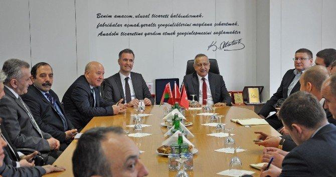Belarus Orman Bakanı Nazarov İnegöl'de Ağaç Sektörünü İnceledi
