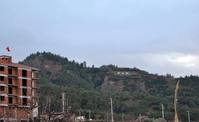 """Dağdaki """"OGM"""" Yazısını """"PKK"""" İle Değiştirenler Yakalandı"""