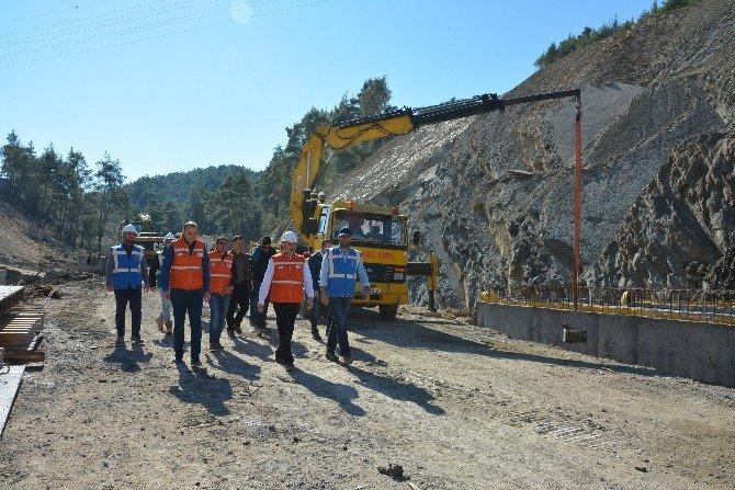 Bölge Müdürü Özgür Baraj İnşaatlarını İnceledi