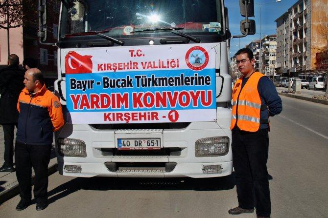 Bayırbucak Türkmenleri'ne 7 yardım TIR'ı Kırşehir'den yola çıktı