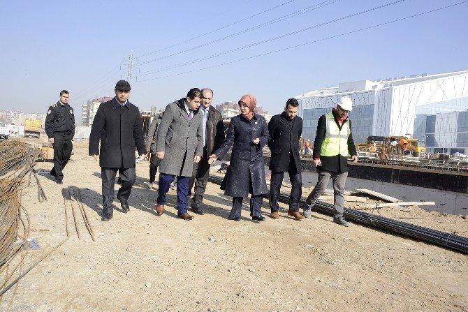 Başkan Toru Sosyal Tesis Ve Ticaret Merkezi İnşaatınını İnceledi