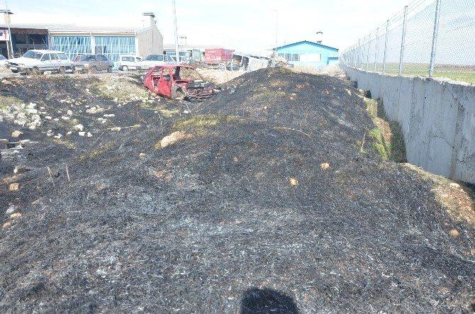 Küçük Sanayi Sitesinde Korkutan Yangın