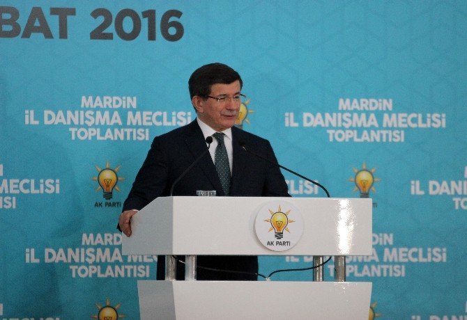 Başbakan Davutoğlu, AK Parti Mardin İl Danışma Meclisi Toplantısına Katıldı